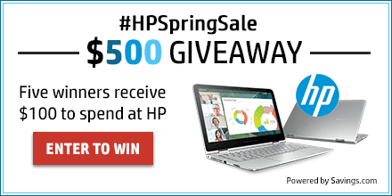 Enter the #HPSpringSale $500 Giveaway Now