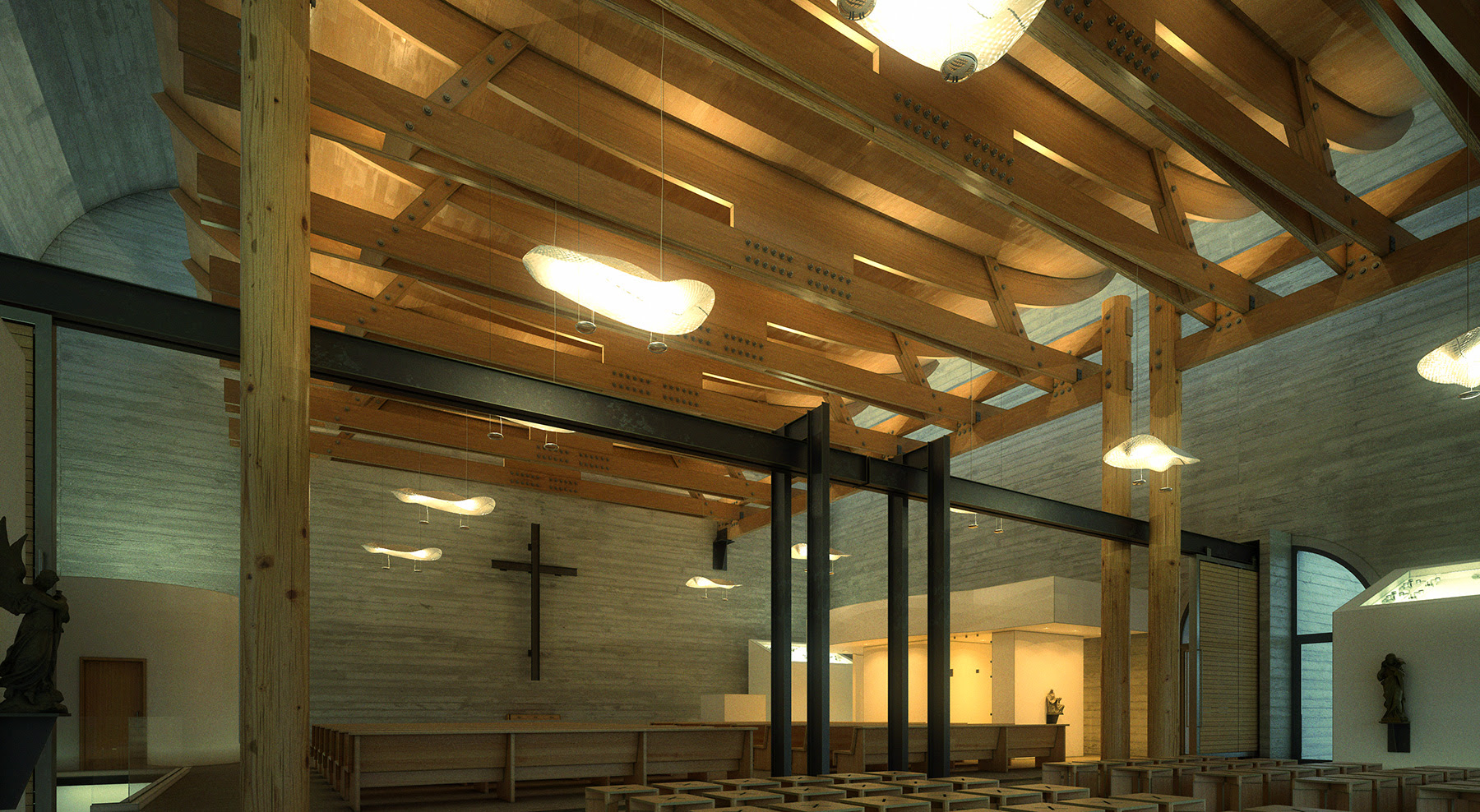 Fehn Church Interior03