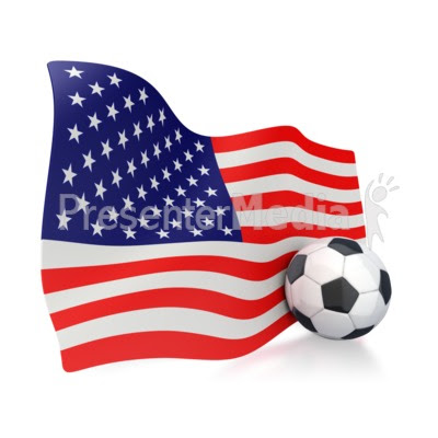 animated american flag clip art. American Flag With Soccer Ball