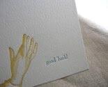 good luck, letterpress card
