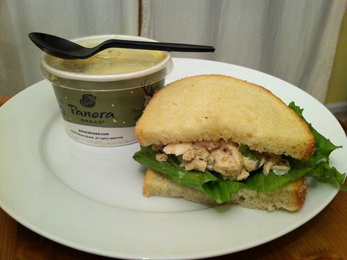 Panera soup and sandwich