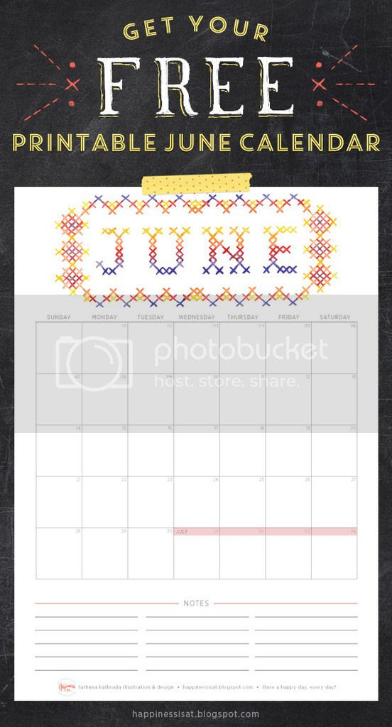 Happiness is... June 2015 Free Printable Calendar and Planner
