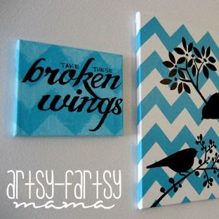 Blackbird Chevron Canvas