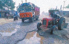 Dusty roads leading to villages should be developed