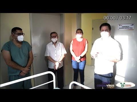 Prefeito Elmo Aguiar e Dr. Luciray falam sobre a importância da construção da unidade emergencial para atender pacientes acometidos de coronavírus no município de Cariré-CE; VÍDEO