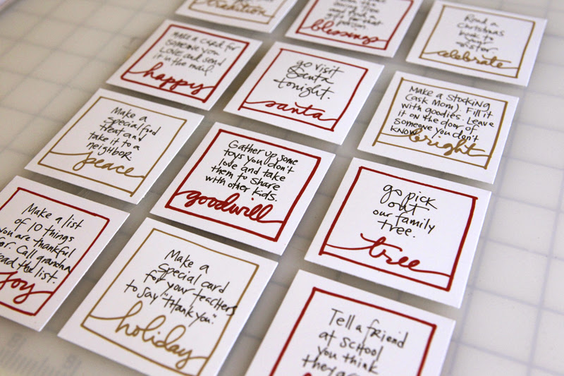Ali Edwards Design Inc Blog Weekend Creative Advent Action Cards