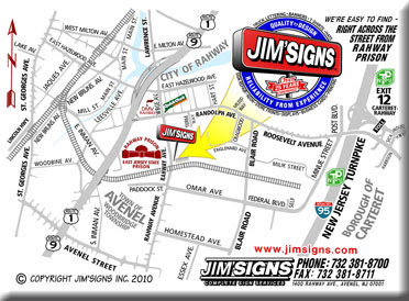 Jimsigns Inc Sign Makers Woodbridge Nj Custom
