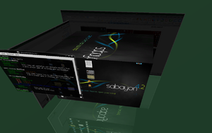 Sabayon Linux 4.2G con Compiz Fusion attivo