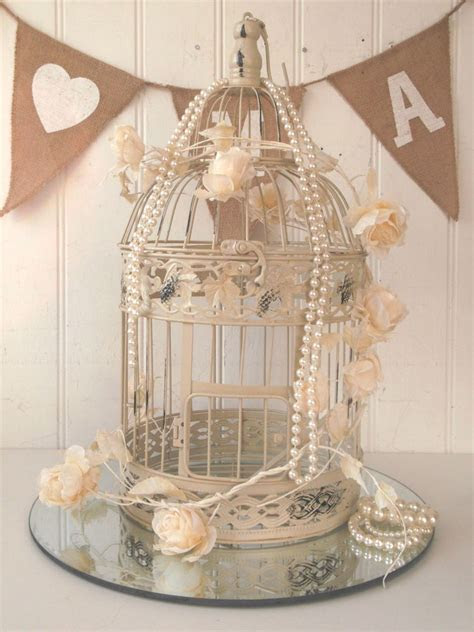 Vintage Birdcage Wedding Centerpiece