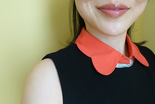 scalloped collar