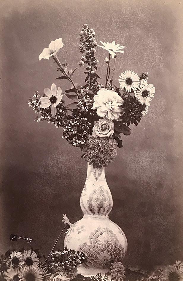 Photo Detail Charles Hippolyte Aubry Flower Arrangement In Narrow Neck Vase