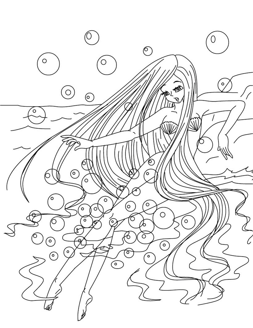 coloriagefillesirene