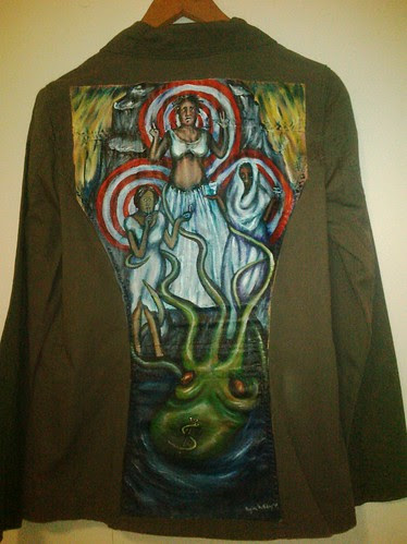 Liz's jacket: It's a Spiral, not a Bullseye