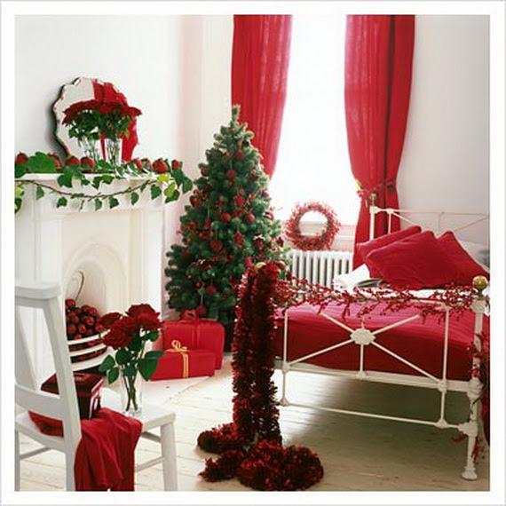 Elegant Interior Theme Christmas Bedroom Decorating Ideas   Family ...