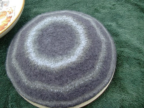 felted bowl drying