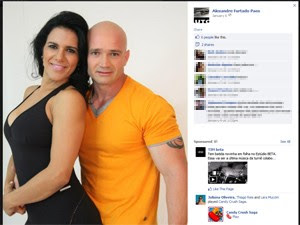 Alexandre é procurado suspeito de assassinar Fabiana durante férias do casal em Natal-RN (Foto: Reprodução/arquivo pessoal)