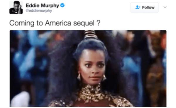 Notitarde. Tweet Eddie Murphy