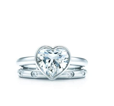 Tiffany bezel heart diamond engagement ring   wedding ideas