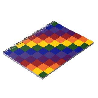Checkered Rainbow Notebooks