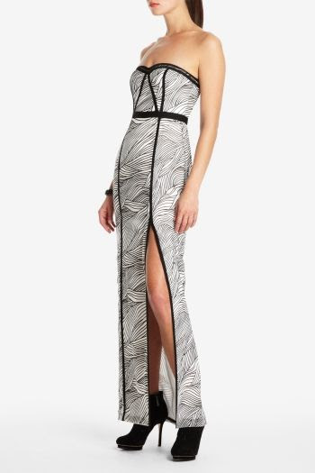 BCBGMAXAZRIA Elin Strapless Long Dress