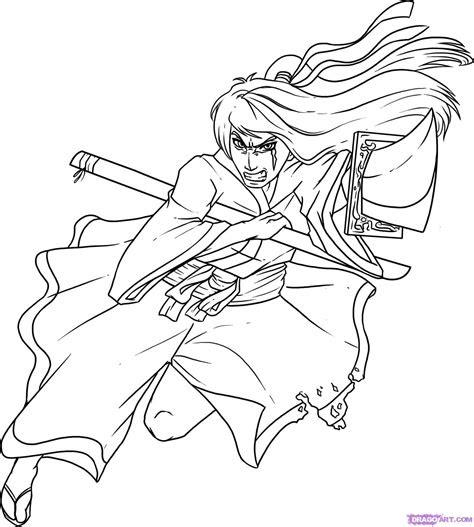 draw  samurai step  step anime people anime