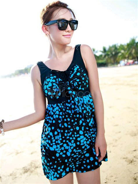 Polka Dot Traditional Women's Swim Dress   Milanoo.com