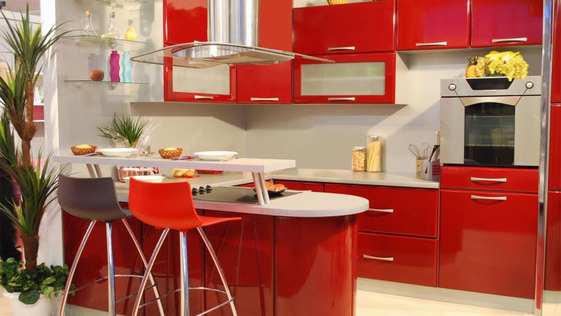 Resultado de imagem para cozinha vermelho e branco