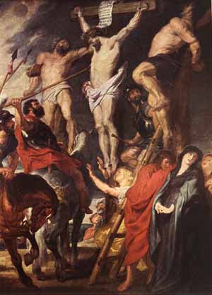 Longinus pierces the Sacred Heart - Rubens