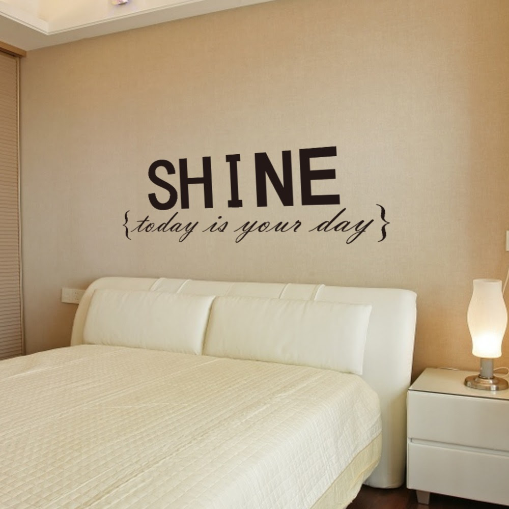 Wall Decor Decal Stickers Quotes Shine Wall Letters Decor