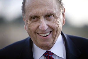 English: Thomas S. Monson. Photo by Brian Tibb...