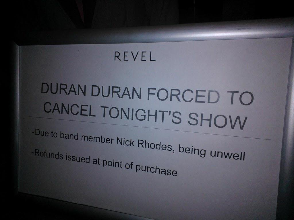 Hotel Revel Atlantic City Duran Duran cancels
