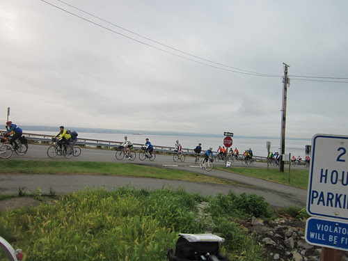 Riders POURING off the ferry