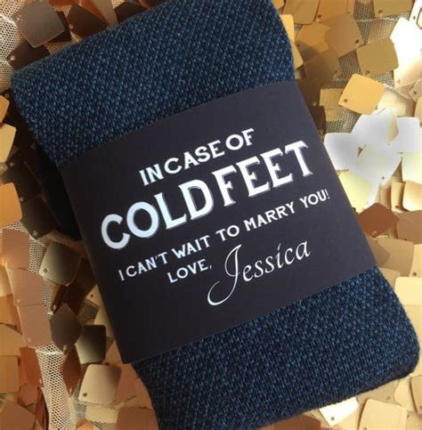 Cold Feet Personalized Bride Gift to Groom // Label and