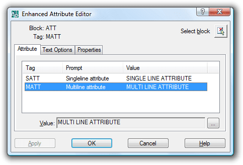 JTB World Blog: Multiline attributes in AutoCAD 2008