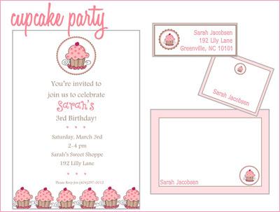 Cupcake party invite