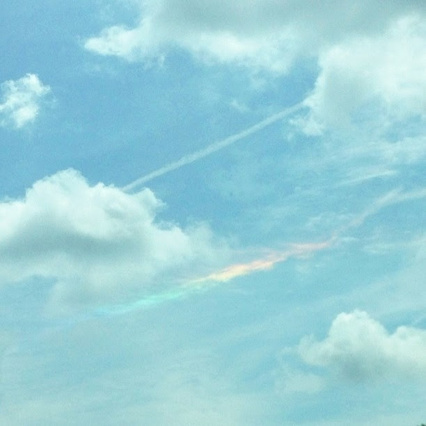 """Will screams from the backseat """"I see a rainbow!""""...so thankful for his little eyes that """"see."""" #1000gifts, #rainbow"""