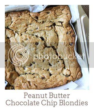 """Peanut Butter Chocolate Chip Blondies"""