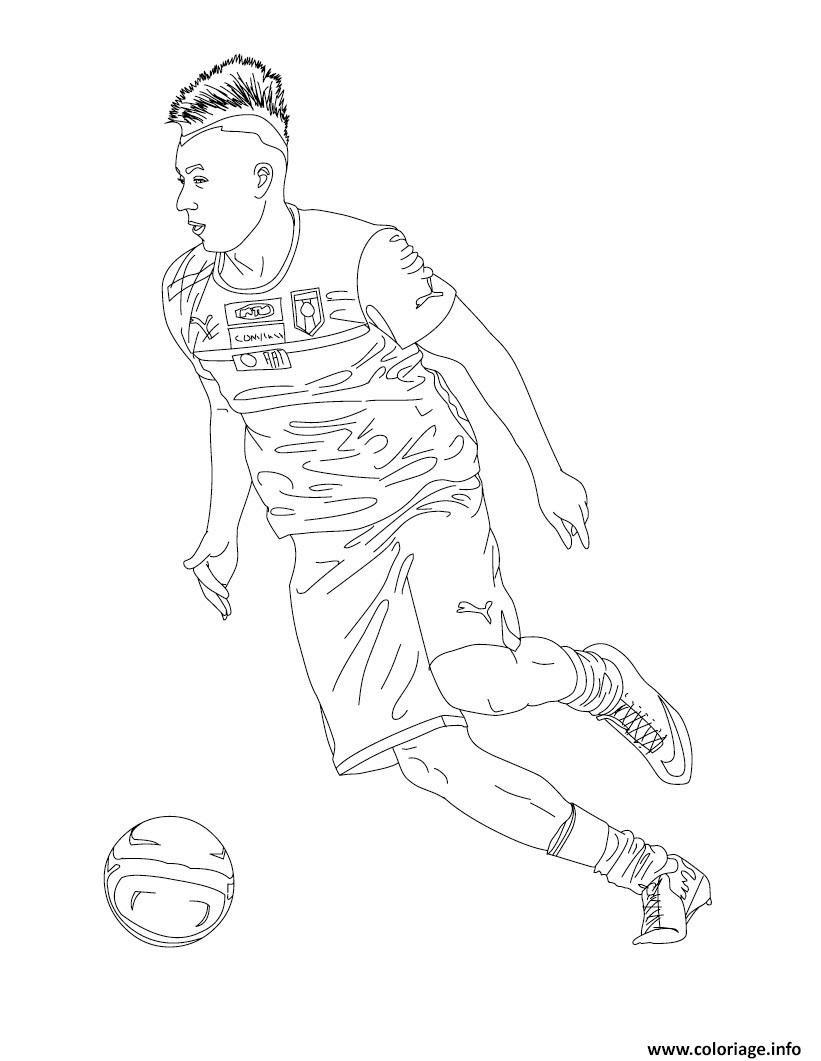 Coloriage Stephan El Shaarawy Joueur De Foot Dessin  Imprimer