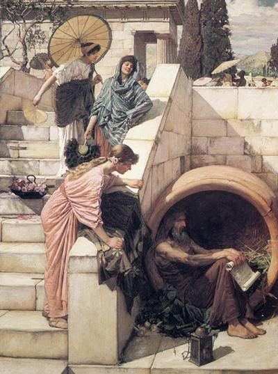 Diogenes in his tub Pictures, Images and Photos