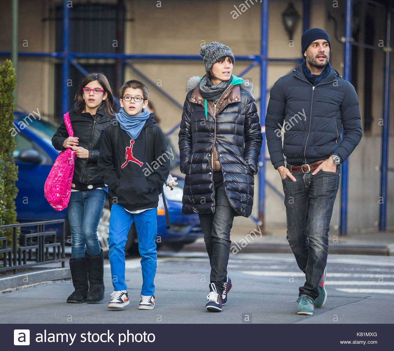 Pep Guardiola and Cristina Serra. Pep Guardiola seen with his family Stock Photo, Royalty Free ...