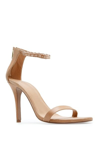 TOUCH - Beaded ankle strap sandals