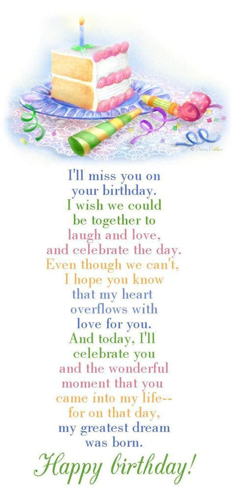 I Will Miss You On Your Birthday I Wish We Could Be