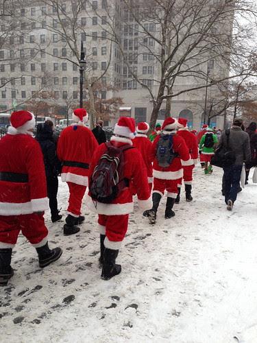 A phalanx of Santa Conners