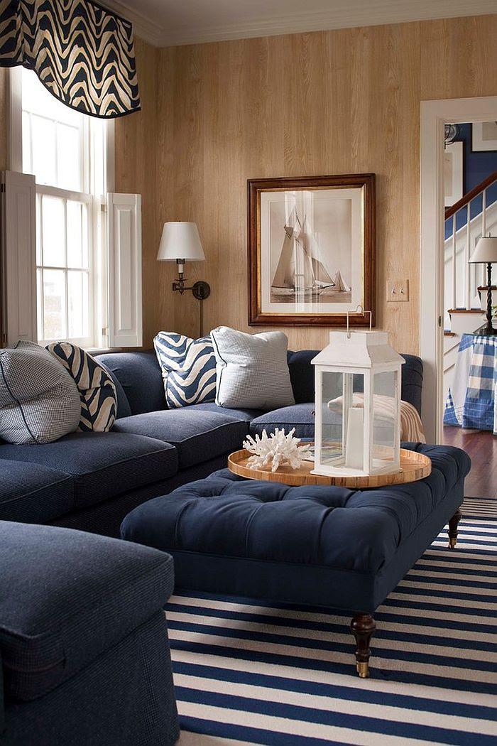 Navy Blue Living Room Decor - Zion Star