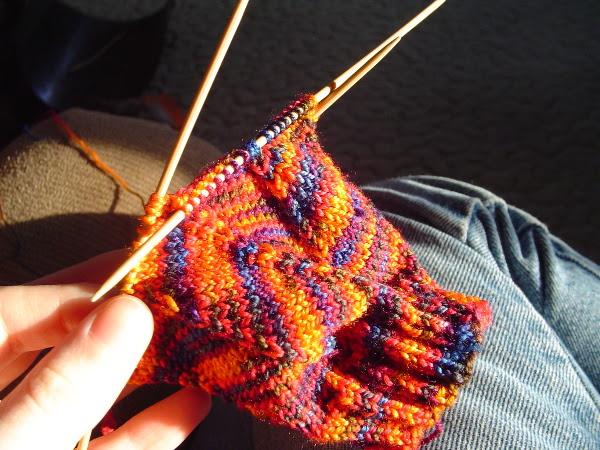 Jaywalker socks in progress