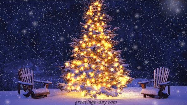 Christmas tree snowfall