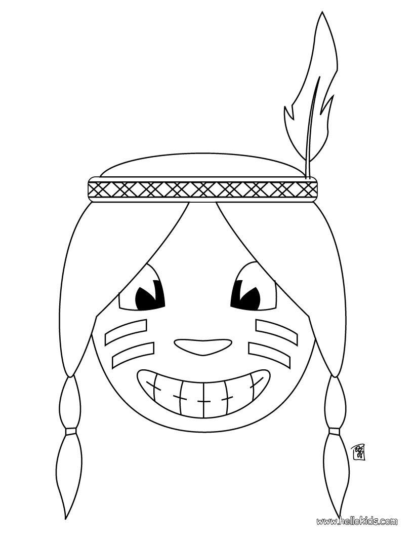 indianer bilder zum ausmalen  kinder zeichnen und ausmalen