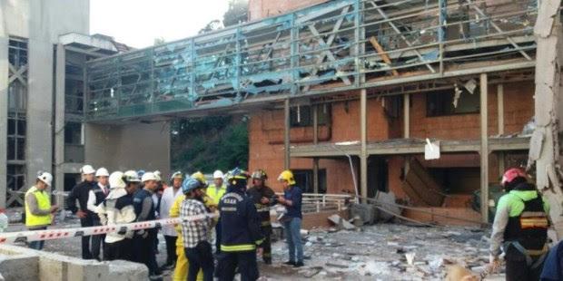 Resultado de imagen para Tres muertos y unos 50 heridos en explosión de gas en clínica de Chile