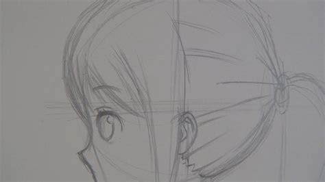 draw anime girl side view slow narrated tutorial