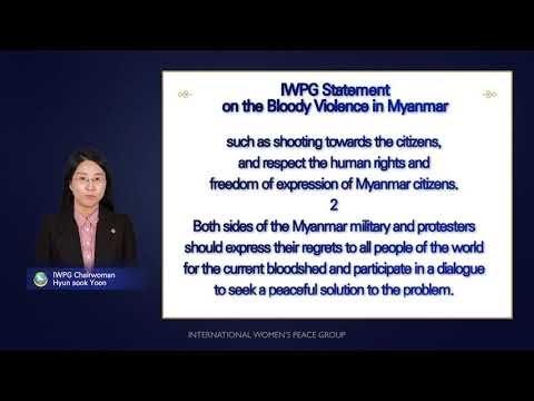IWPG Umumkan Pernyataan yang Menyerukan Solusi Damai untuk Menyelesaikan Krisis Myanmar